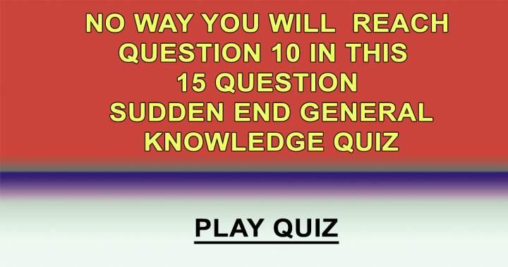 15 Sudden End Questions