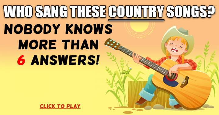 Who Sang These Country Songs?
