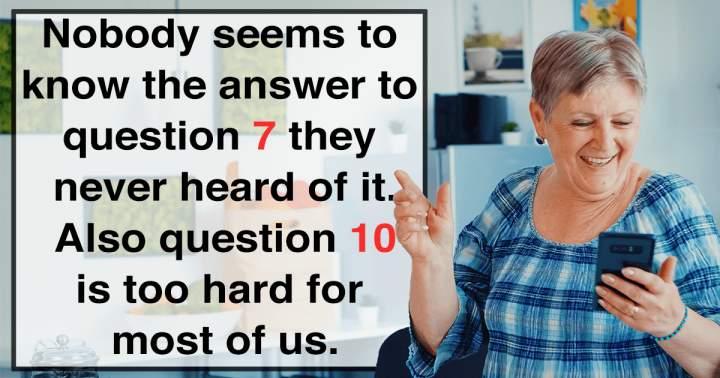 Challenging Mixed Trivia Quiz