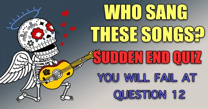Who Sang Sudden End Quiz